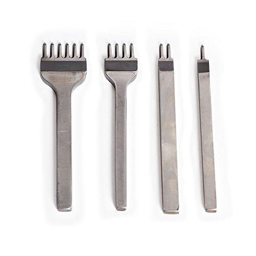 Tily fai da te 4mm in metallo 1/2/4/6Prong diamante pelle DIY Craft Hole Punches allacciatura cuciture perforate Sew Tools (Set di 4)