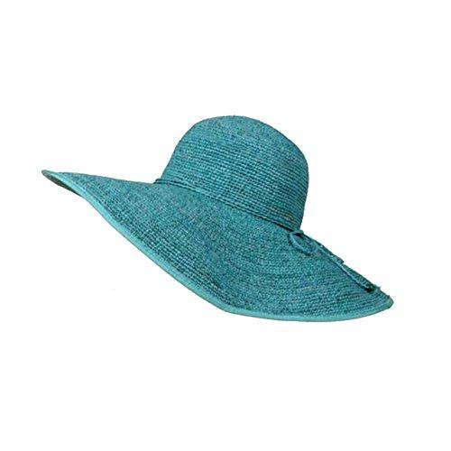Sombrero De Playa Playa Junto Al Mar Vacaciones Viaje Sombrero De Paja Rafi  Plegable Súper Grande 054367d91e8