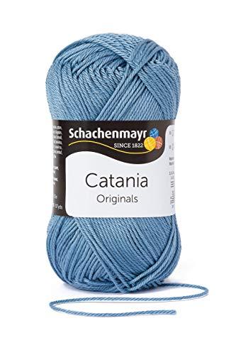 Schachenmayr Catania 9801210-00421 denim Handstrickgarn, Häkelgarn, Baumwolle -