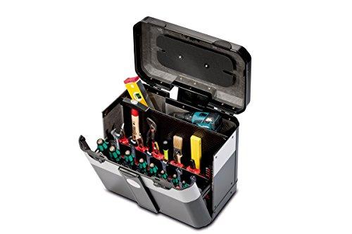 Parat Evolution Werkzeugkoffer mit CP-7-Werkzeughaltern, schwarz/silber (Ohne Inhalt)