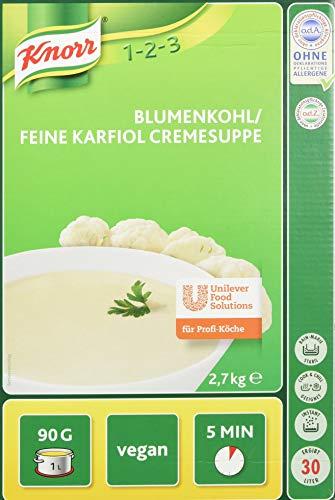Knorr Blumenkohl, feine Karfiol Cremesuppe Trockenmischung (natürlicher, purer Blumenkohl Geschmack) 1er Pack (1 x 2,7 kg)