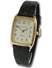 Philip Mercier SML08/A - Reloj de caballero de cuarzo color negro
