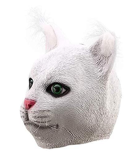 Latex Lustige Vollkopf Mürrisch Garfield Weiße Katze Maske Kostüme Cosplay Für Lustige Karneval Halloween Party Kostüm Filmrequisiten