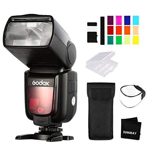 Godox TT685C TTL Blitz 2.4G 1/8000s High-Speed-Sync GN60 unterstützt E-TTL II Blitzkamera Speedlite für Canon EOS-Kameras 5D 6D 7D 77D 80D 100D 200D 750D 750D 800D 800D 2000D (High-speed-kamera-blitz)