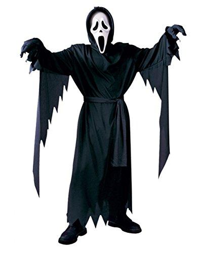 Scream Kinderkostüm mit Maske und Umhang - Größe bis (Kostüm Serienkiller Kinder Für)