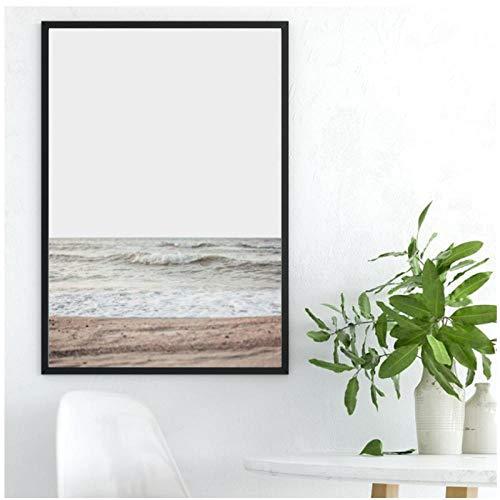 Rjunjie Wüste Poster Drucken Strand Landschaft Wandkunst Leinwand Malerei Kalifornien Wandbilder für Zuhause Wohnzimmer Dekoration Kein Rahmen 60x80 cm - Strand Leinwand Drucken