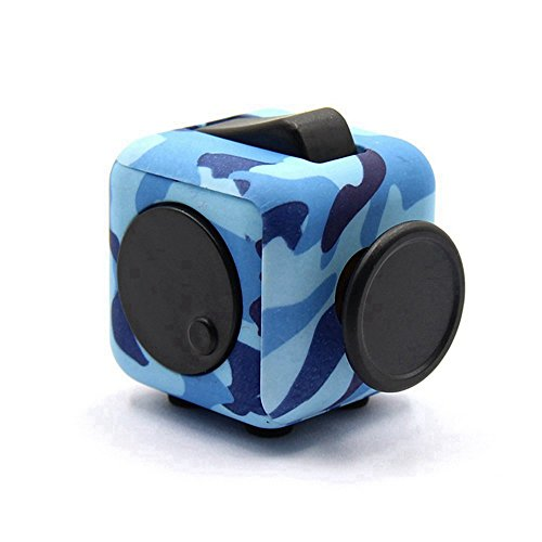 Dohomai 6 sides Fidget Cube Decompression Dice for Children and Adults Relieves Stress Anxiety and Attention Toy at your finger tips (Army blue) - 5