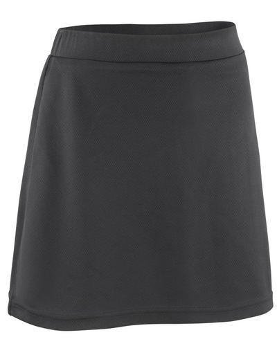 Spiro Girls Junior Training Sports Skort (M) (Black)