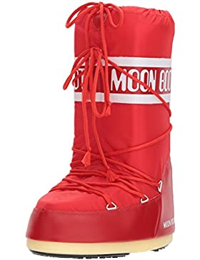 Tecnica Moon Boot Nylon, Botas de nieve Unisex adulto, Rosa (Red 003), 35-38 EU