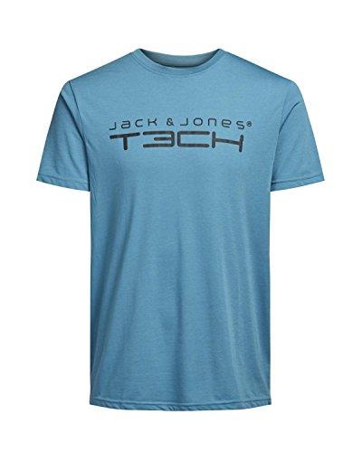 Jack & Jones Tech Herren T-shirt JJT Foam New Tee Short Sleeves Crew Neck Noos Bluejay