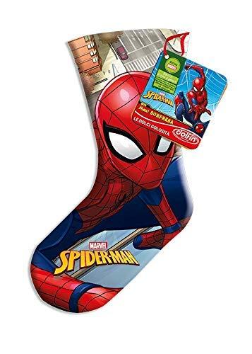 Calza della befana spiderman uomo ragno con cioccolate assortite e fantastica sorpresa