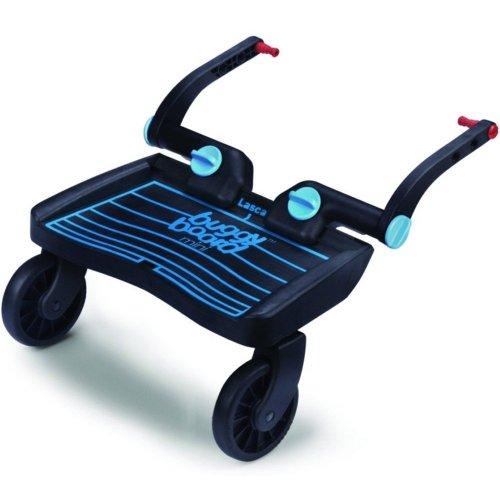 Lascal Mini - Tabla con ruedas para carritos y sillas de paseo (universal), color azul y negro
