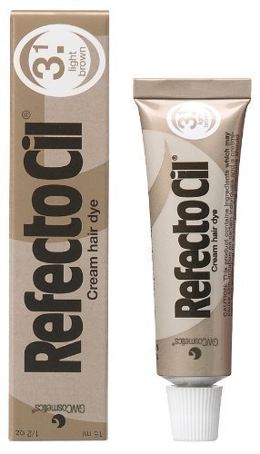 RefectoCil Cream Hair Dye (LIGHT BROWN) .5oz by RefectoCil BEAUTY (English Manual)
