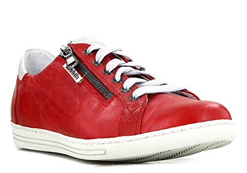 Allrounder by Mephisto Baskets pour femmes baskets Mission Cuir Textile Sommersneaker Rouge