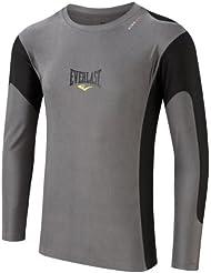 Everlast Long sleeve Rashguard T-Shirt moulant micro fibre homme