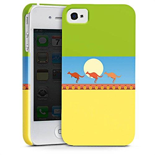 Apple iPhone X Silikon Hülle Case Schutzhülle Australien Känguru Urlaub Premium Case glänzend