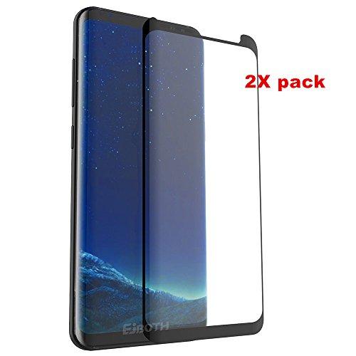 Preisvergleich Produktbild 2 x Samsung Galaxy S8 Schutzfolien zu screenen, EJBOTH Panzerglas Gehärtetem Glas Panzerfolie Displayschutz Ölfester Anti-Fingerprint Schutz - High Definition Ultra-beständig mit Härte Anti-Blase 9H