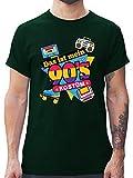 Karneval & Fasching - Das ist Mein 90er Jahre Kostüm - S - Dunkelgrün - L190 - Herren T-Shirt und Männer Tshirt