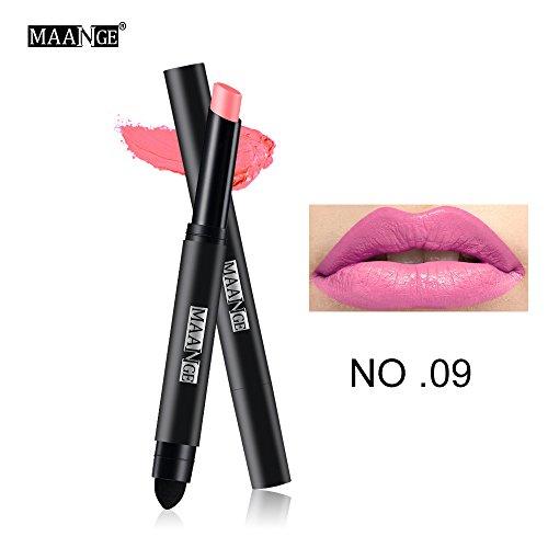 Lipgloss,Rabatt,PorLous 2019 Beliebt Langlebiger Lippenstift Wasserdichter Matt Lipgloss Lip Liner Cosmetics Feuchtigkeitsspendend 8
