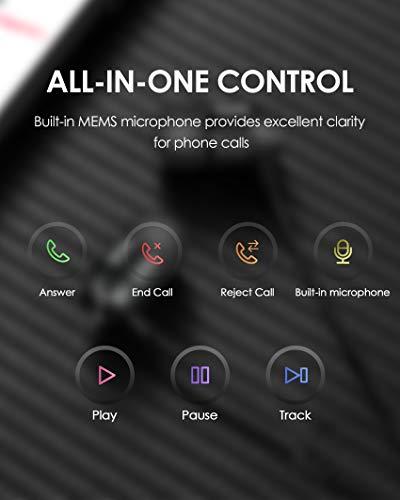 PALOVUE Earflow In-Ear Lightning Kopfhörer Magnetischer MFi Zertifizierter Ohrhörer mit Mikrofon-Controller für iPhone X/XS/XS Max/XR iPhone 8 / P iPhone 7 / P (Metallic Schwarz) - 6