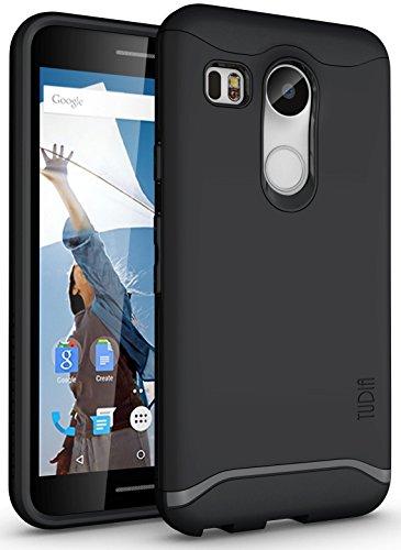 Nexus 5X Coque, TUDIA Slim-Fit Merge Double Couche Protecteur Coque pour Nexus 5X (2015) (Noir Mat)