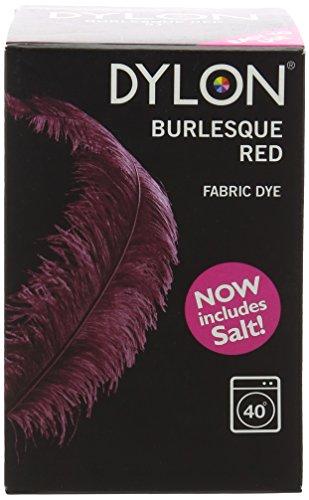 Dylon Machine Dye-Burlesque Red inkl. 350 g Salz (Fabric Permanent Dye Dylon)