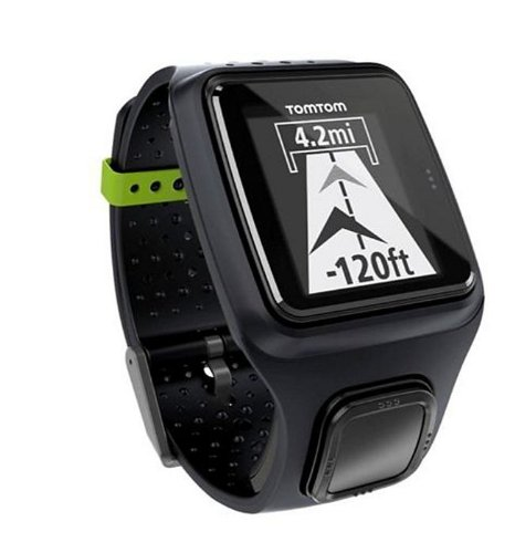 TomTom Runner GPS Laufuhr, schwarz, One size (Wireless-tracker-armband)