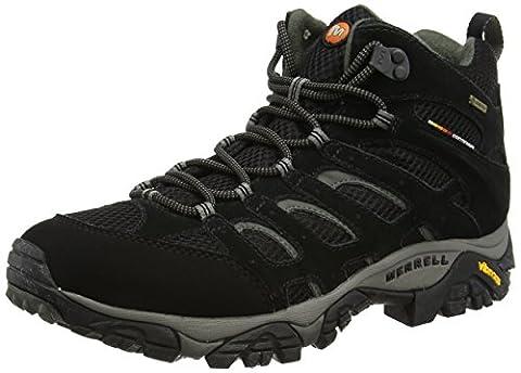 Merrell Moab Mid Gtx, Chaussures de randonnée montantes homme - Noir (Black), 42 EU