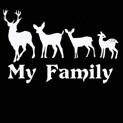 Olivialulu Jagd Aufkleber Auto Jagd Schießen Buck Deer Familie Hunter Shop Poster Vinyl Wandtattoo Dekoration Jagd Wandaufkleber 37 * 58 Cm Anpassbare (Deer Family Auto-aufkleber)