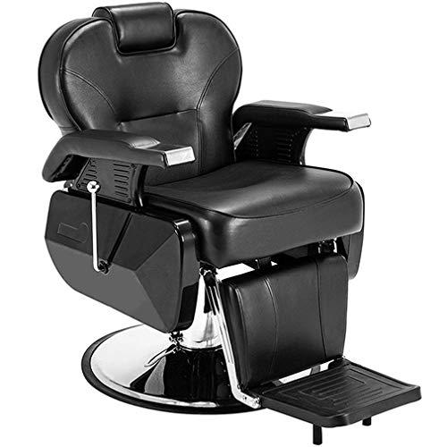 Dioe poltrona da barbiere multiuso, parrucchiere poltrona da barbiere, poltrona reclinabile girevole, 2 colori opzionali (rosso e nero)