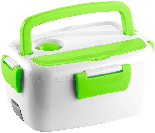 Rosenstein & Söhne Elektrische Thermo-Lunchbox mit 2 Fächern und Löffel, 40 Watt