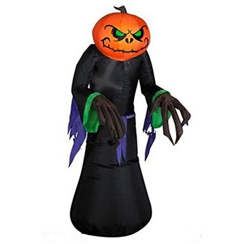 ZBW 2,2 m große Halloween-Dekoration, aufblasbarer Kürbis-Ghost mit ()