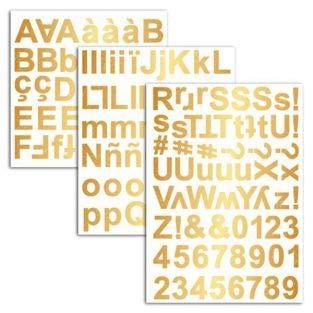 Unbekannt D.I.Y with Toga Alphabet Chipboards selbstklebend, Karton, Gold, 15x 25x 0,5cm -