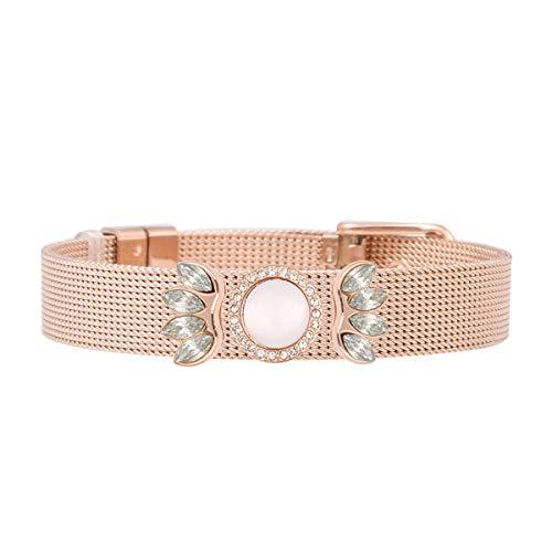 SlidJewelry - Pulsera para mujer con colgante de perla de oro rosa, bohemio, regalo vintage, atrapasueños, colgante, pulseras