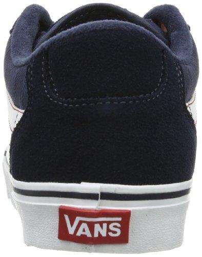 Vans M Faulkner, Baskets mode homme Bleu (Navy/White/Red)