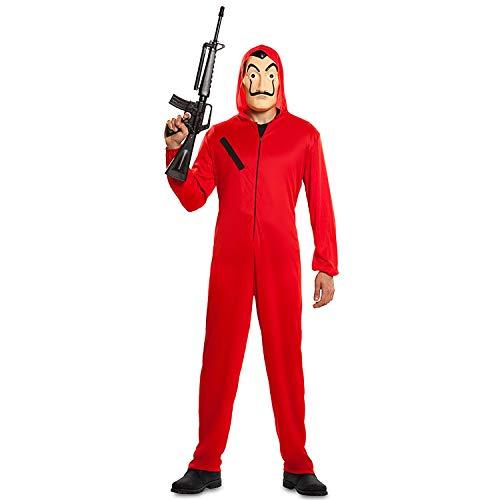 Generique - Haus des Geldes-Bankräuber-Kostüm La Casa de Papel rot M / L - Roter Overall
