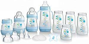 MAM Anti-Kolik selbst sterilisieren Flasche Starter Set (weiß) - Blau