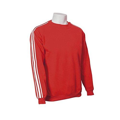 Jumar Sport - Sudadera básica deportiva Rojo con Lista Blanca