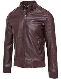 reputable site ad4b5 19ae4 Amazon.it: giacca ecopelle - 4121320031: Abbigliamento