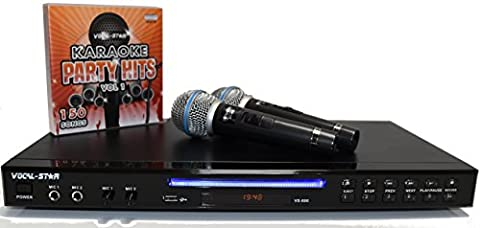 Vocal-Star VS-600 Black Karaoke Machine 2 Microphones & 150 Songs
