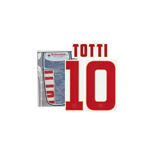 AS Rom 10 Totti name und nummer auf trikot away 2014/15 - Rot, 10 - TOTTI