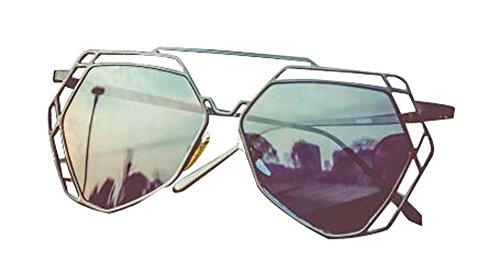 Aushöhlen Sun Eye Retro Mode Sonnenbrillen Die Sonnenbrille Schwarz