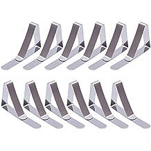 12 Pack Clips de Acero Inoxidable Mantel Pinza para Mantel Cubierta