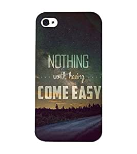 Mental Mind 3D Printed Plastic Back Cover For Iphone 4s - 3DIP4S-G832