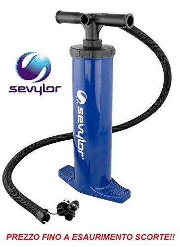Pumpe Luftpumpe manuell RB2500G Sevylor Doppel Aktion Aufblasen und Luft mit Reduzierringe Universal für Luftmatratze Aufblasbare Schlauchboote Kanu und Kajak