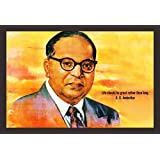 Mad Masters Honourable Dr. B.R. Ambedkar 1 Piece Wooden Framed Painting |Wall Art | Home Décor | Painting Art | Unique Design | Attractive Frames