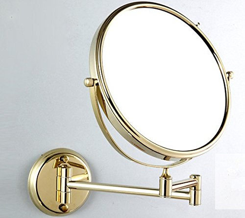 Golden Green bronze Spiegel Spiegel im Bad Doppelbett ausziehbaren Spiegel Make-up-Spiegel montierte 8-Zoll,goldene Spiegel am Ende der Runde 8-Zoll - Golden Bronze 8 Licht