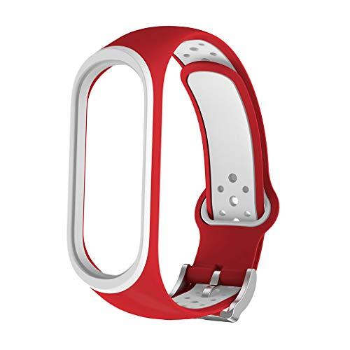 Huacat Herren und Frauen Armband Smartwatch Zwei-Farben Quadrat Loch Silikon Fitness mit Pulsmesser Damen Wasserdicht Tracker Aktivitätstracker Pulsuhr Schrittzähler Uhr Sportuhr für Anruf