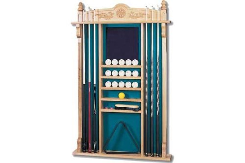 "Billard Queuehalter ""Wall Rack"" für 6 Billard Queues, eiche"