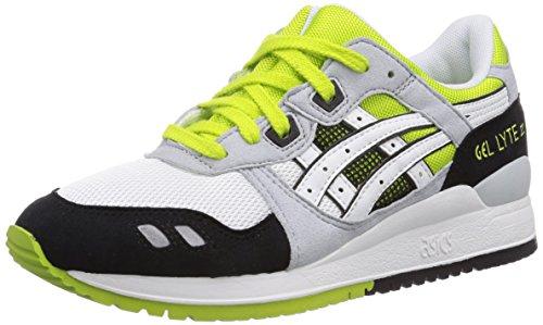 Asics Gel-Lyte III - Scarpe sportive - Unisex - adulto - Bianco (0101-White/White), 45